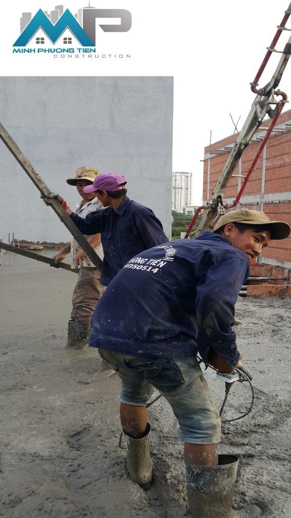 đổ bê tông sàn 2