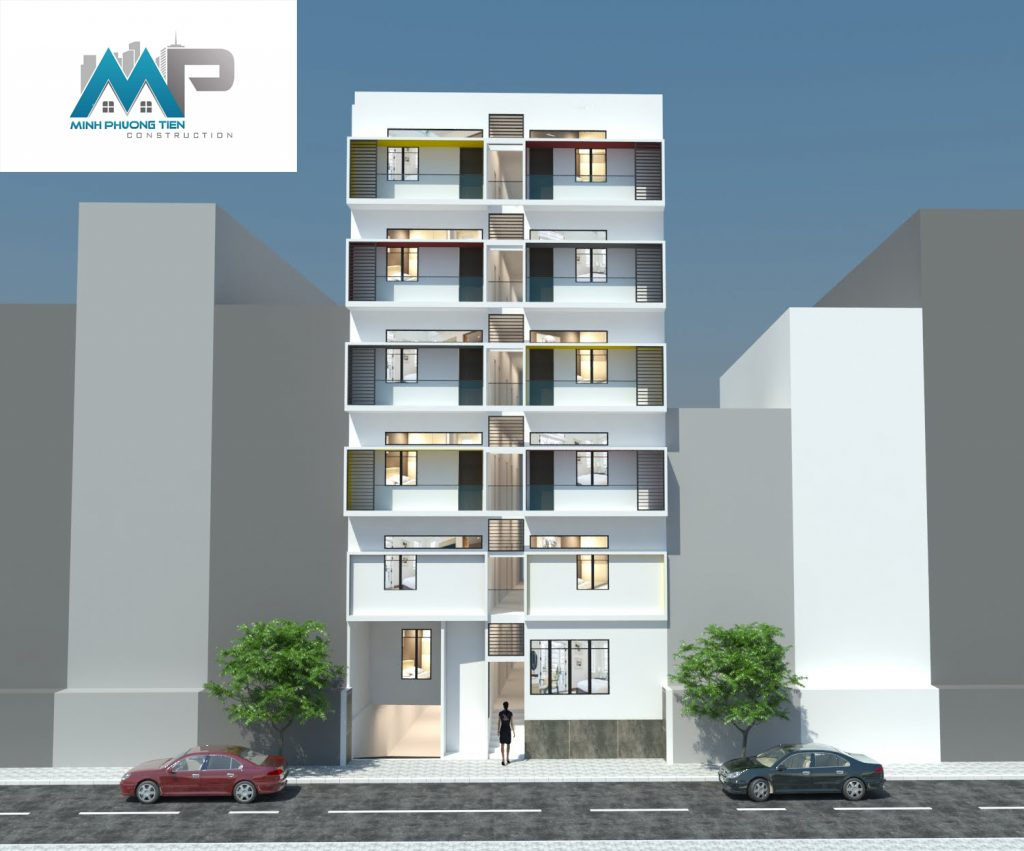 Thiết kế và thi công khách sạn mini 7 tầng